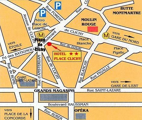 Hotel Place De Clichy Paris 9e Arrondissement France