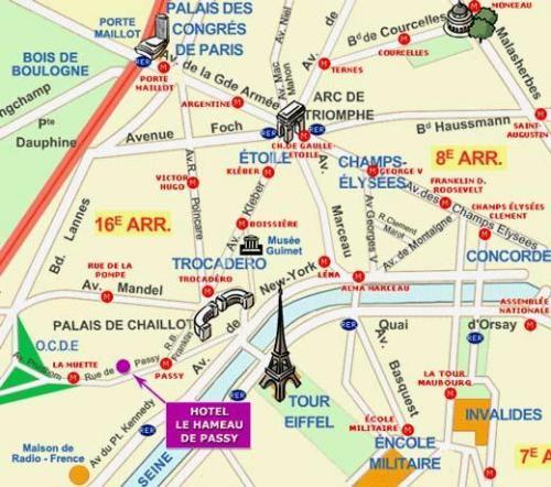 hotel le hameau de passy paris 16e arrondissement france